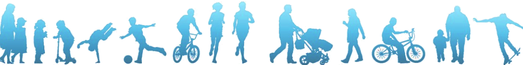 Border image showing silhouettes of people doing various activities